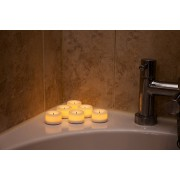6 x Minature Vanilla Scented Battery Operated Tealights