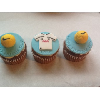 Fooball themed edible cake toppers - x 6